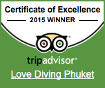 Lovediving Phuket Certificate of Excellence 2015